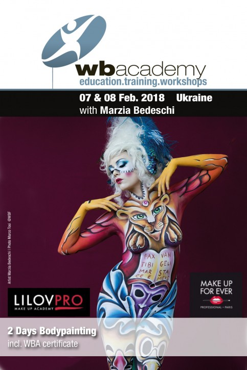in Kiev: Bodypainting with Marzia Bedeschi