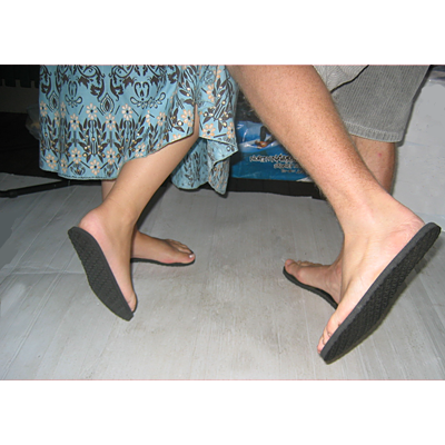 Invisible shoes for models