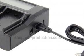 Power Set: 2 Stk. Batterien & LCD Ladegerät