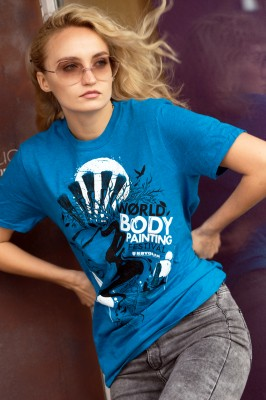 T-Shirt, WBF#19 turquoise, Unisex Small