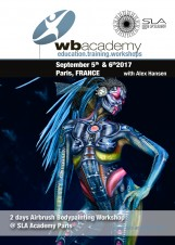 in France for SLA Academy: Airbrush Bodypainting Workshop with Alex Hansen
