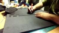 EVA Schaum für Kopfputz und Kostüme Schwarz